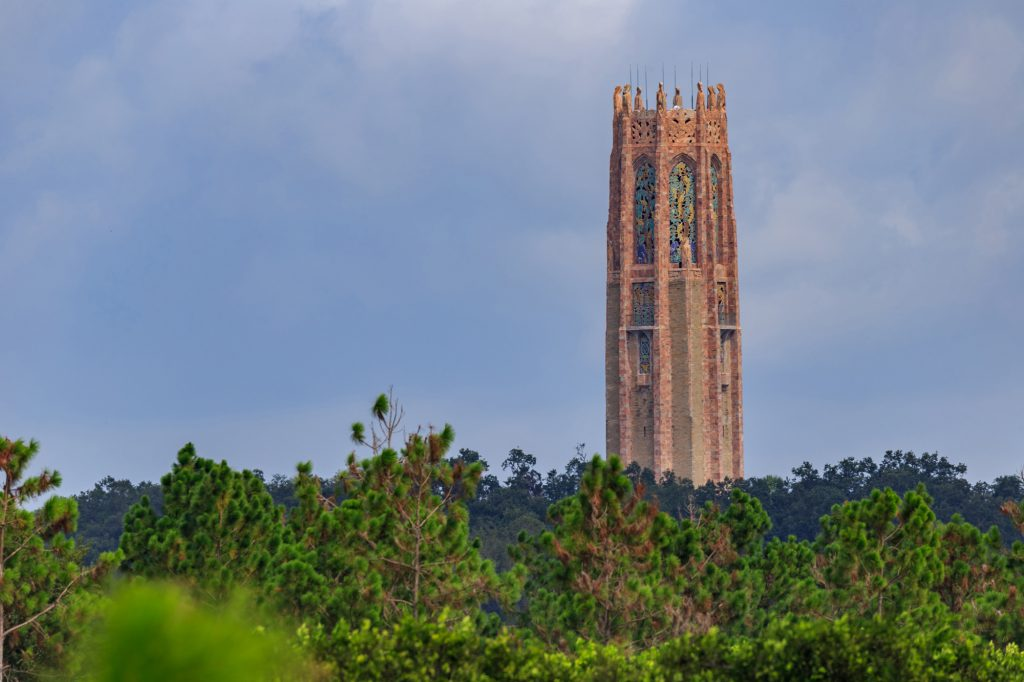 The Bok Tower from a mile away